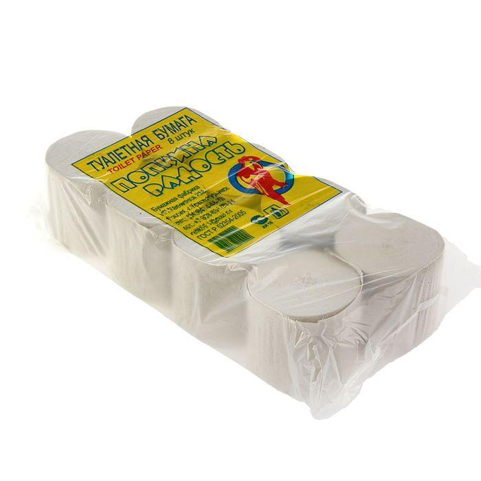 Туалетная бумага «Попкина радость» без втулки, 8 рулонов