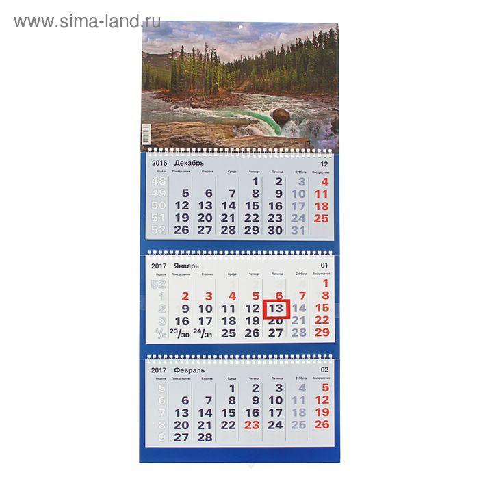 """Календарь Трио квартальный """"Природа"""" 31х69 см"""