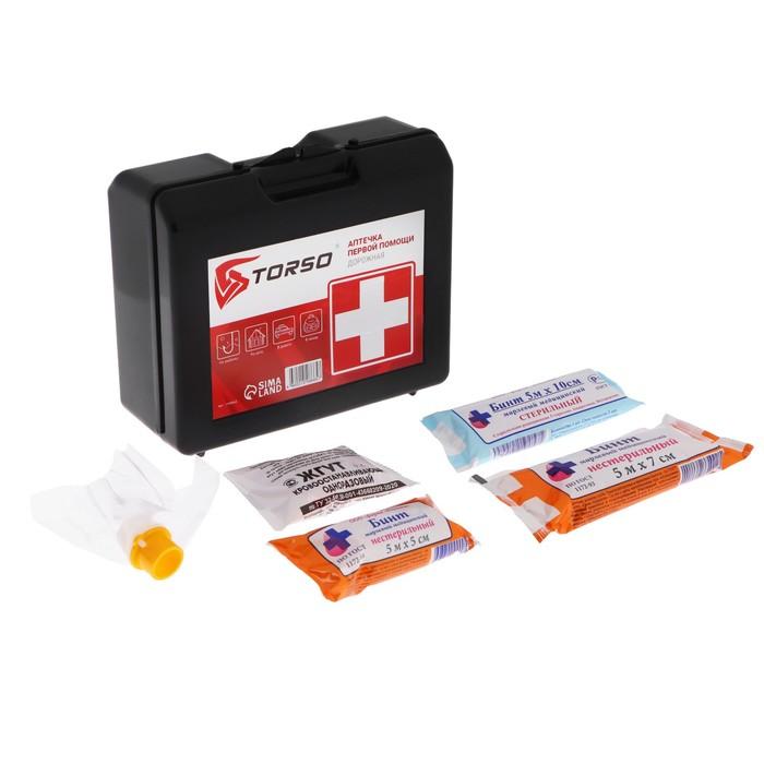 Автомобильная аптечка первой помощи TORSO, состав РФ