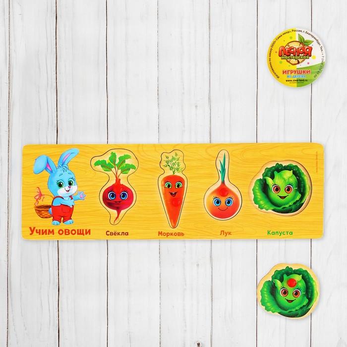 """Рамка - вкладыш """"Учим овощи"""", 4 элемента"""