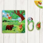 """Рамка-вкладыш """"Лесные животные"""", 6 элементов"""