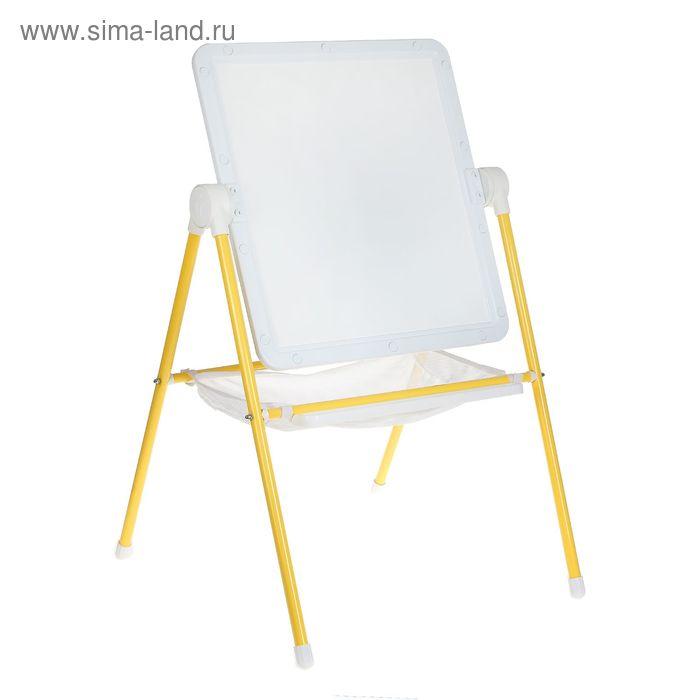 Мольберт детский универсальный White, цвет бело-желтый