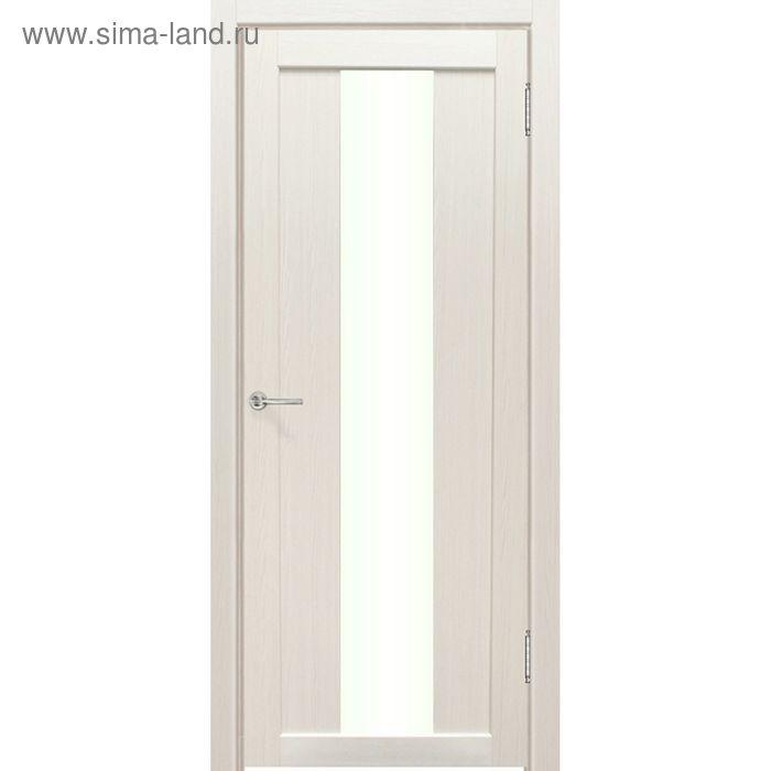 Дверное полотно остекленное Сардиния Дуб перламутр 2000х600