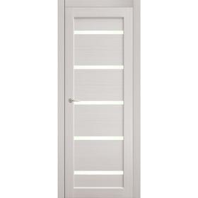 Дверное полотно остекленное Аврора Дуб перламутр 2000х600