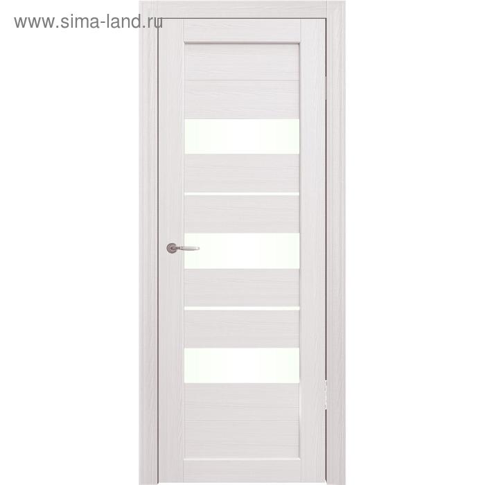 Дверное полотно остекленное Мальта Дуб перламутр 2000х900