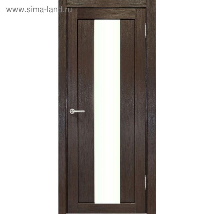 Дверное полотно остекленное Сардиния Венге 2000х600
