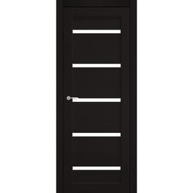 Дверное полотно остекленное  Аврора Венге, белый лакобель 2000х700