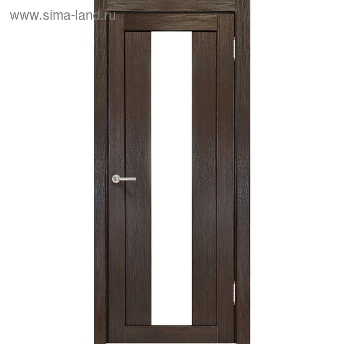 Дверное полотно остекленное Сардиния Венге, белый лакобель 2000х700
