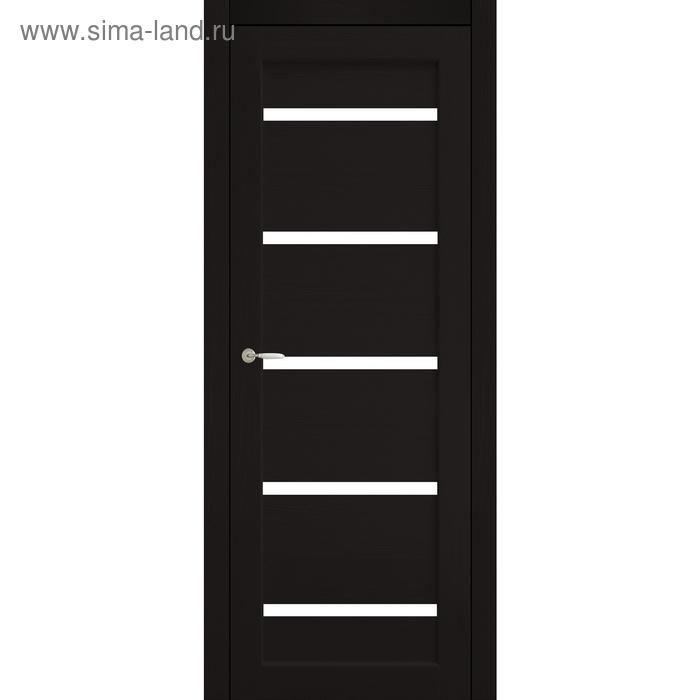 Дверное полотно остекленное Аврора Венге, белый лакобель 2000х800