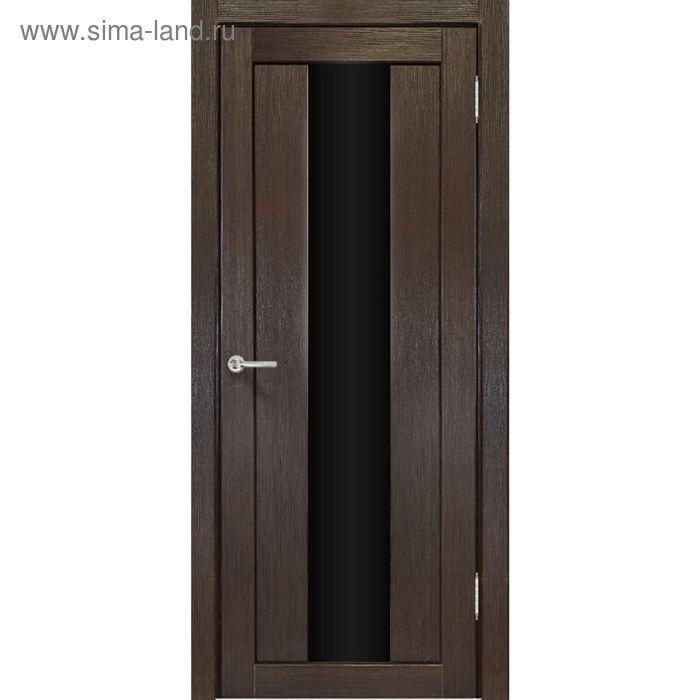 Дверное полотно остекленное Сардиния Венге, черный лакобель 2000х800