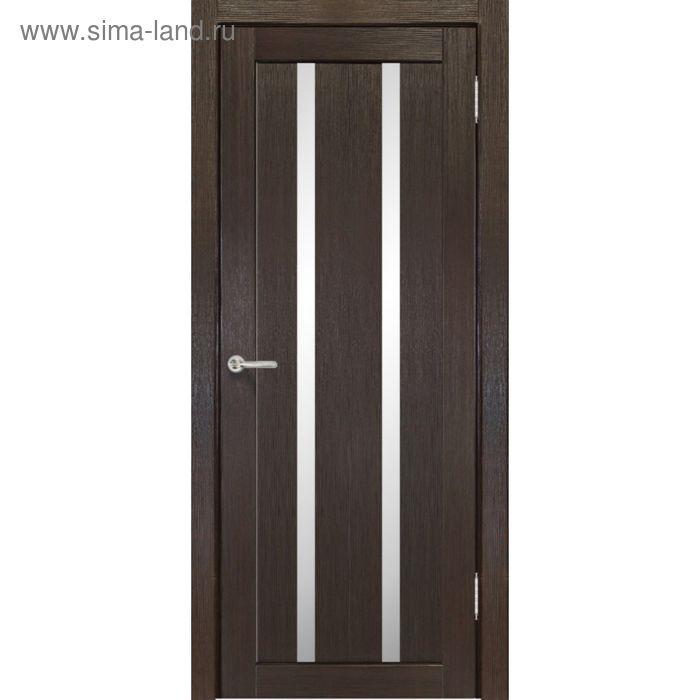 Дверное полотно остекленное Сицилия Венге 2000х600