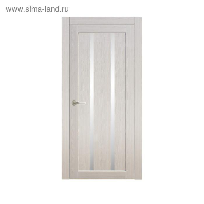 Дверное полотно остекленное Сицилия Дуб перламутр 2000х700