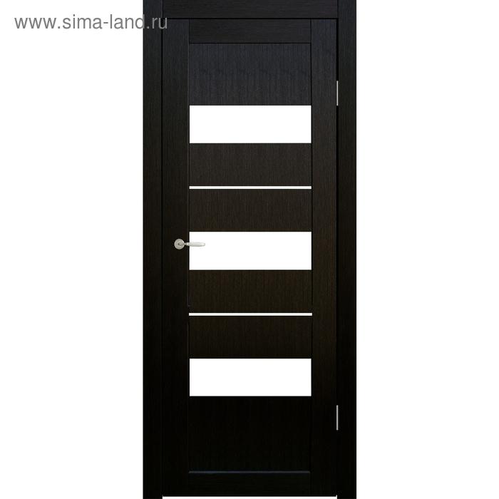 Дверное полотно остекленное Мальта Венге, белый лакобель 2000х800
