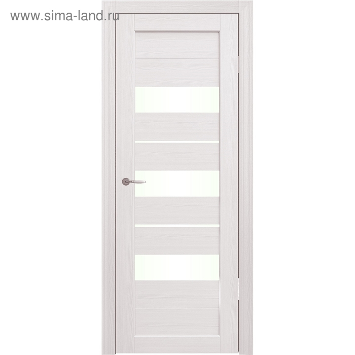 Дверное полотно остекленное Мальта Дуб перламутр 2000х800