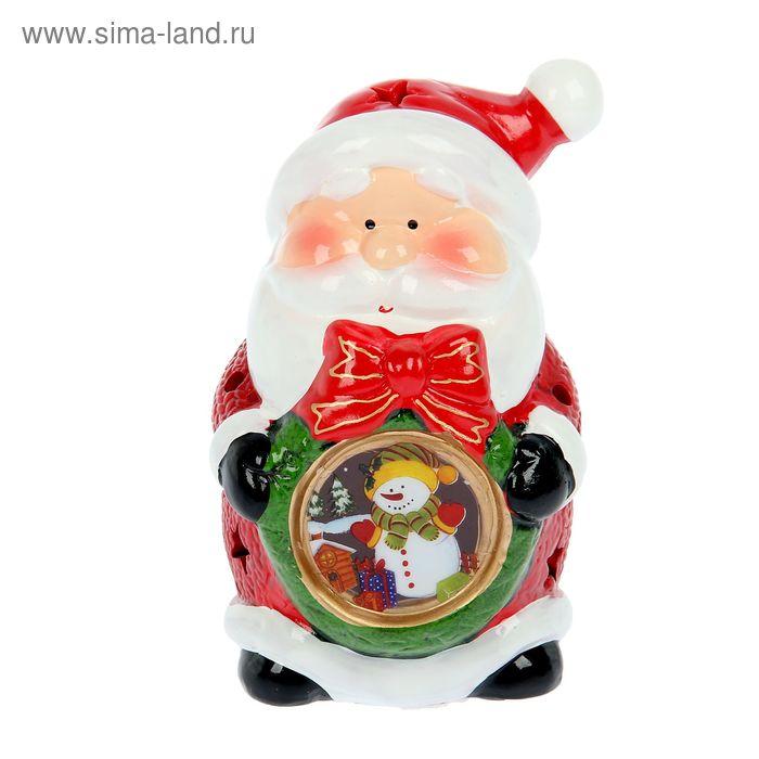 """Сувенир световой """"Дедушка Мороз с новогодним шариком"""""""