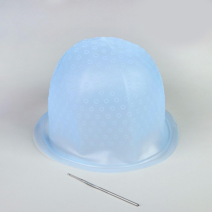 Шапочка для мелирования, с крючком, цвет МИКС - фото 1655127