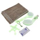 Набор для бани АЙРА: Массажер, щетки пластик 2 шт, кристаллы ментола, сидушка