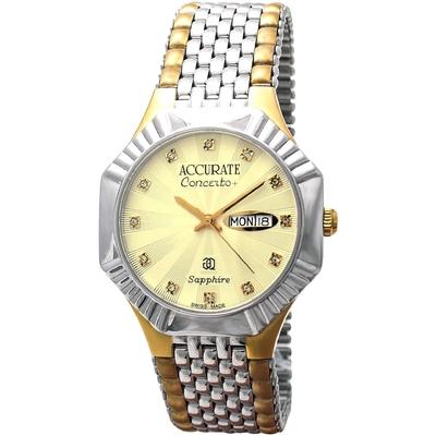 Часы наручные унисекс ACCURATE AMQ1910T gold