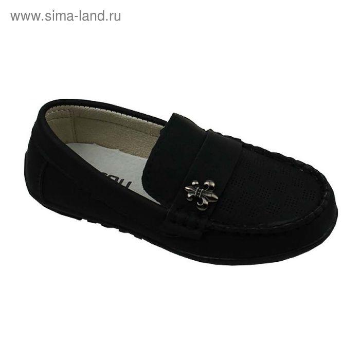 Туфли дошкольные, р. 27-32, цвет черный, арт. 22006