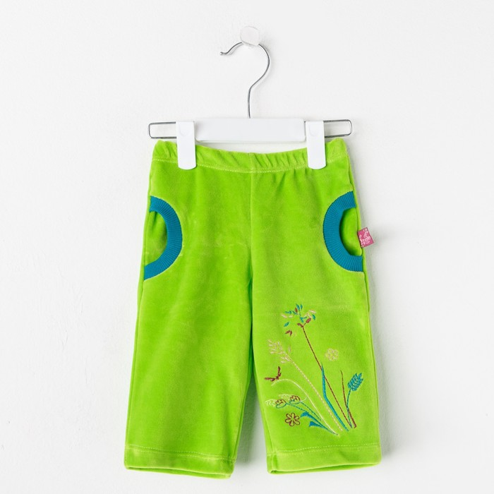 """Брюки детские """"Лапушка"""", рост 74 см (48), цвет салатовый/зелёный"""