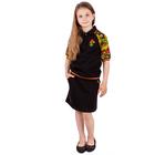 """Джемпер для девочки """"Хохлома"""", рост 128 см (64), цвет чёрный, принт хохлома (арт. ДДК989722_Д)"""