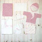 """Комплект """"В роддом"""" (9 предметов), рост 56 см (40), цвет розовый (арт. ЯН9909_1_М)"""