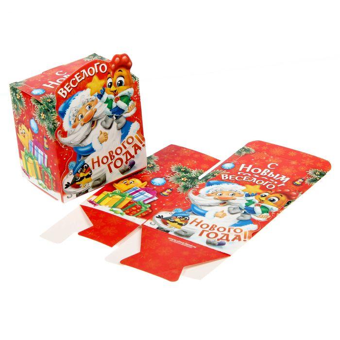 Складная коробка фигурная «Весёлого Нового года», 8 х 8 х 6 см.