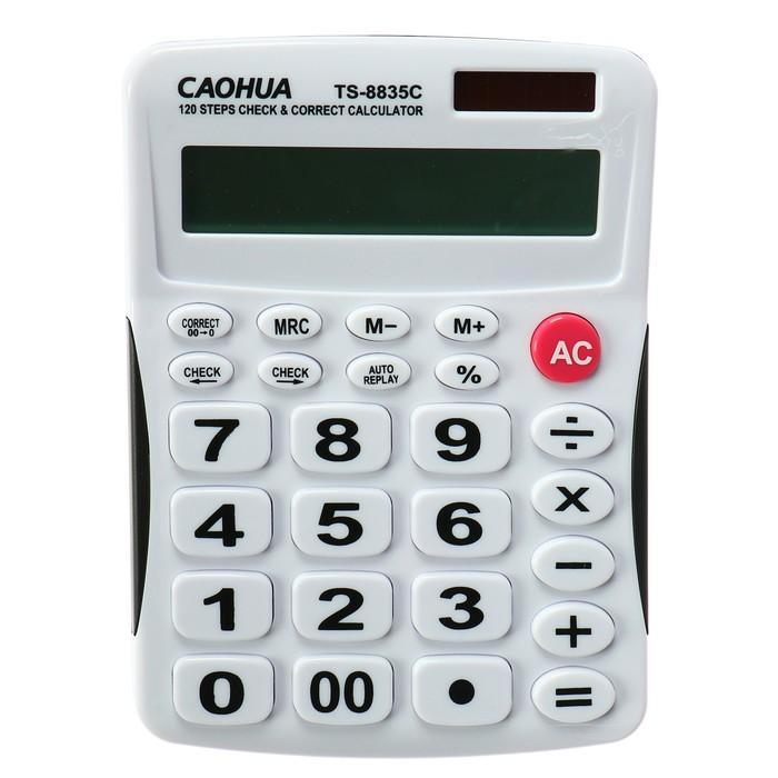 Калькулятор настольный, 12-разрядный, TS-8835C Caohua, двойное питание, большие кнопки - фото 408709705