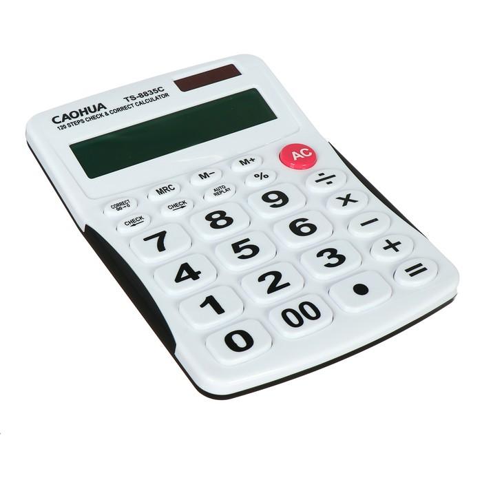 Калькулятор настольный, 12-разрядный, TS-8835C Caohua, двойное питание, большие кнопки - фото 408709706