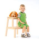 """Футболка для мальчика """"Пёс на ферме"""", рост 62 см (42), цвет салатовый (арт. ЮДК030001_М)"""