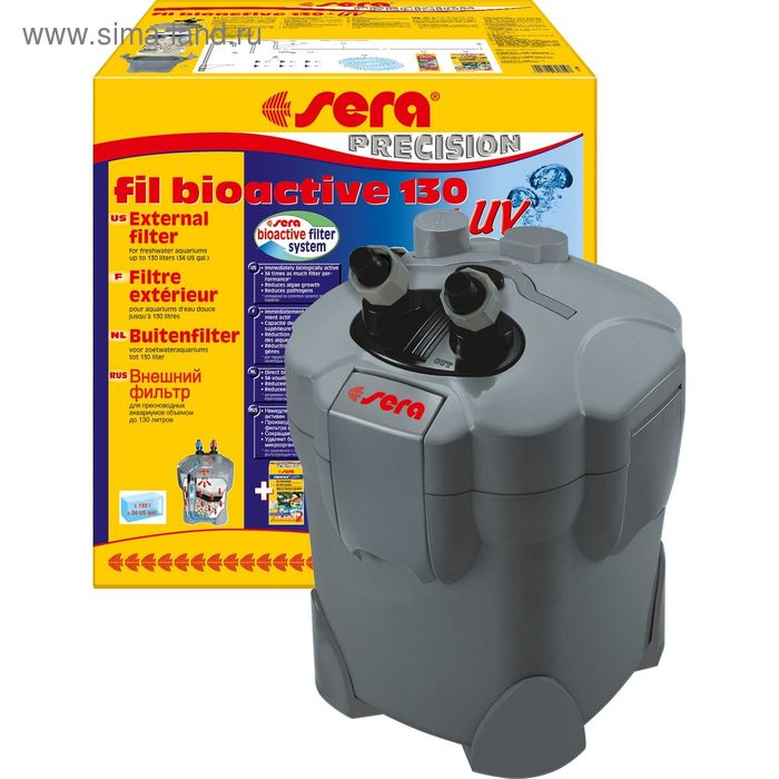 Внешний фильтр Sera филь биоактив 130+УФ, 300 л/час