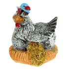 "Souvenir ""chicken on the roost with coins"" MIX"