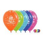 """Шар латексный 12"""" """"С днём рождения!"""", пастель, набор 12 шт., цвета МИКС - фото 174200816"""