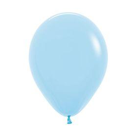 """Шар латексный 12"""", пастель, набор 12 шт., цвет светло-голубой 140"""