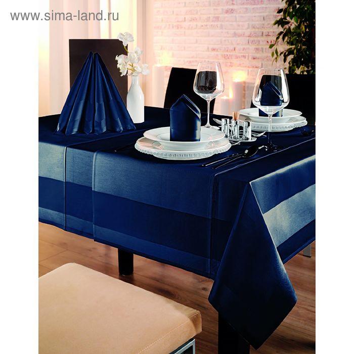 Скатерть Toccata 130X190, 100% хлопок, цвет темно-синий