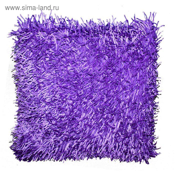 Подушка GOEZZE Langflor-Teppich, 50Х50, цвет сиреневый