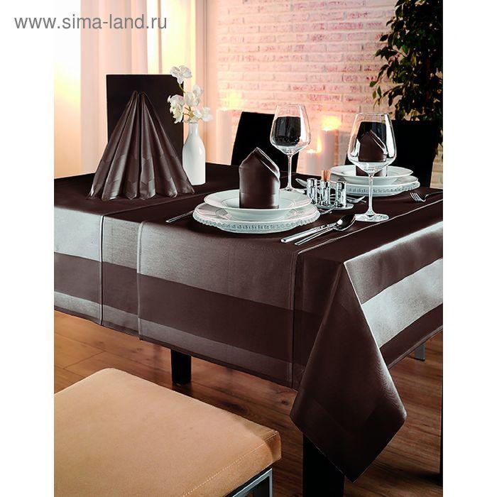 Скатерть Toccata 130X220, 100% хлопок, цвет коричневый