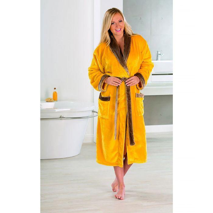 Халат GOEZZE Seiden-Feeling, размер XL (50), цвет желтый