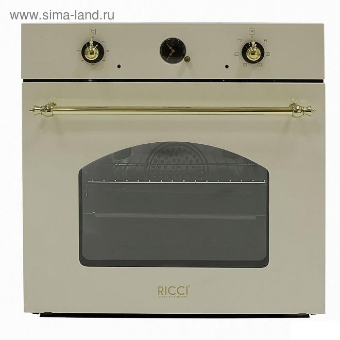 Духовой шкаф Ricci REO-630 BG, бежевый