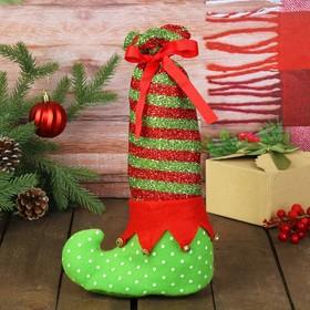 Мешок для подарков «Сапожок», с завязками, цвета МИКС