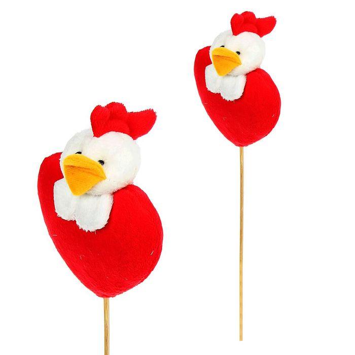 "Мягкая игрушка на палочке ""Цыплёнок"" на сердце"