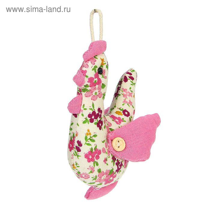 """Мягкая игрушка-подвеска """"Петух"""" в цветочек, цвета МИКС"""