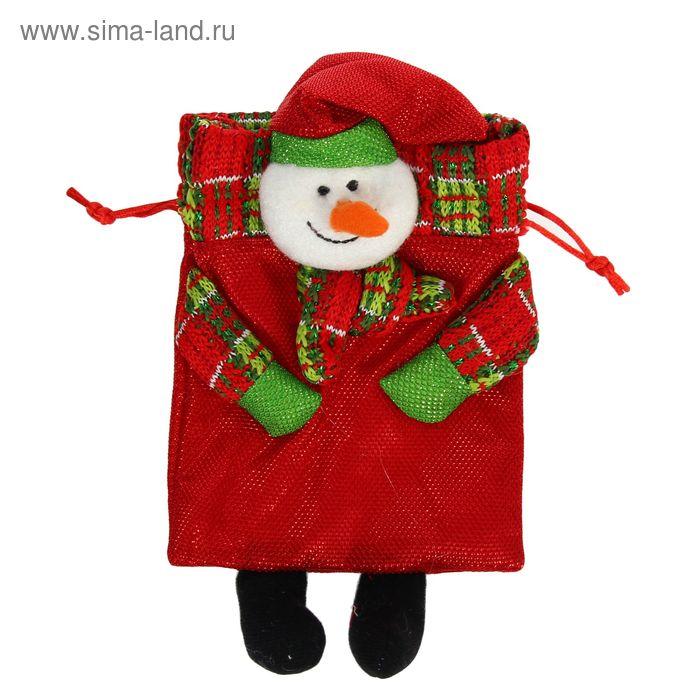 """Мешок для подарков """"Новый год"""", с ножками и завязками, виды МИКС"""