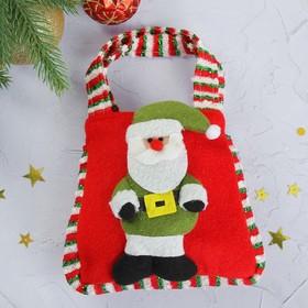 Подарочная сумка «Дед Мороз», цвета МИКС