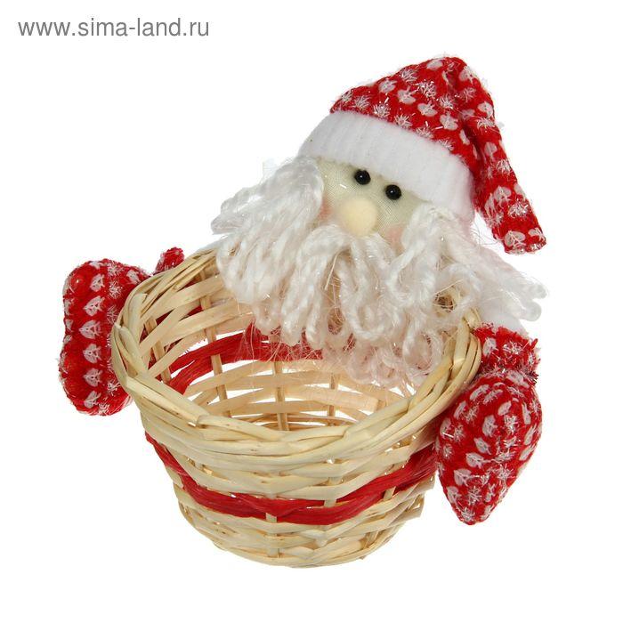 "Конфетница ""Дед мороз"" с варежками, вместимость 200 грамм"