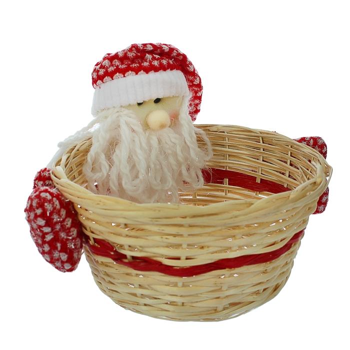 Конфетница «Дед мороз», с варежками, вместимость 1000 г