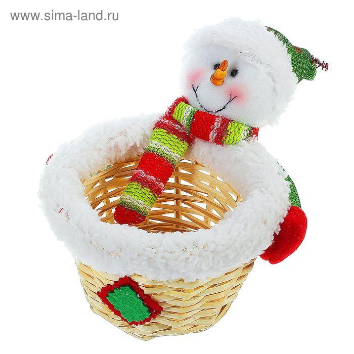 """Конфетница """"Снеговик с шарфом"""", 100 г"""