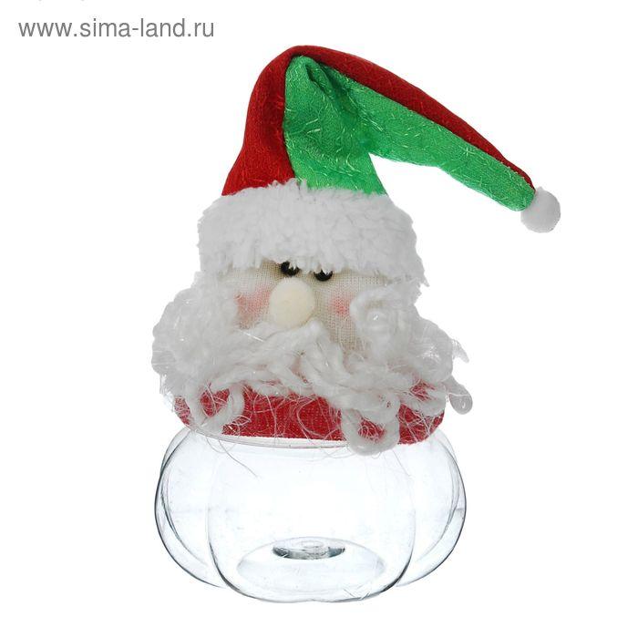 """Конфетница """"Дед Мороз с бородой"""" в колпаке, 100 г"""
