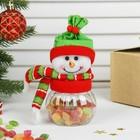 """Конфетница """"Снеговик в шарфе и колпаке"""", 80 г"""
