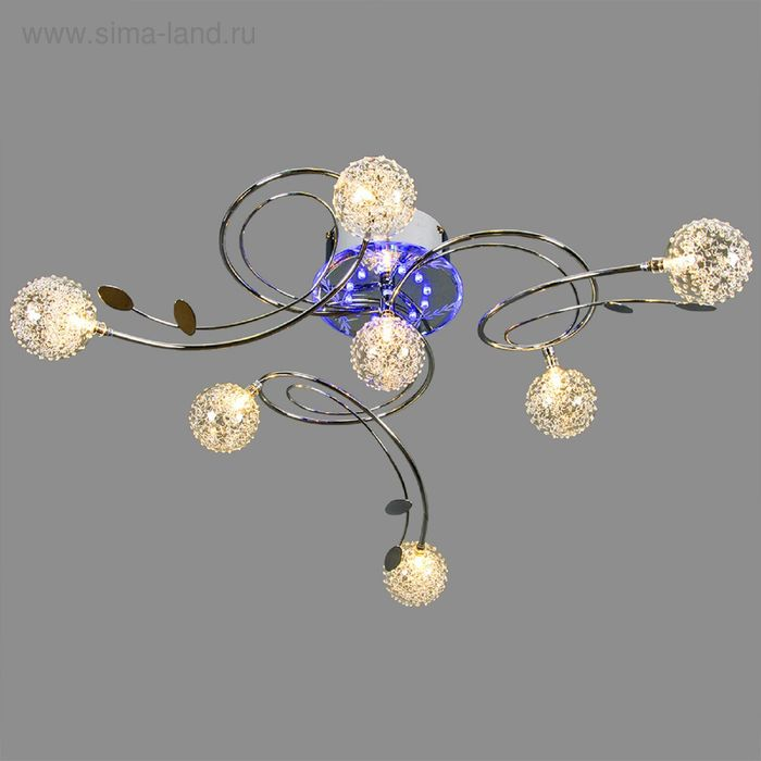 """Люстра галогеновая """"Амбрелла"""" с диодами и дист.пультом d=75 см 7 ламп (12V 20W J4)"""